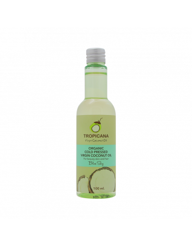 Tropicana Organic Cold-pressed Coconut Oil For Hair And Skin Nourishing Blue Sky 100ml - 1