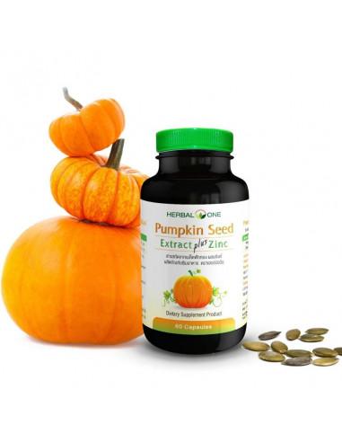 Herbal One Pumpkin Seed Extract Plus Zinc 60 Capsules - 1